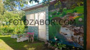 фотосетка для декора заборов фасадов цена