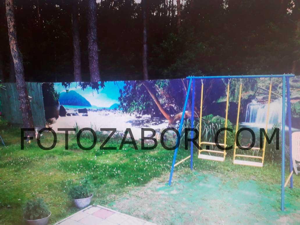 фотосетка на забор купить недорого спб